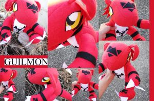 Guilmon Plushie - Digimon Tamers by plooshieS2