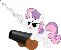 Pirate Sweetiebelle by HeavyEcho