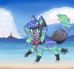 Nysa Goes to the Beach by PhoenixRemixed