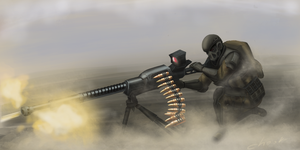 machine gunner by chookandrii