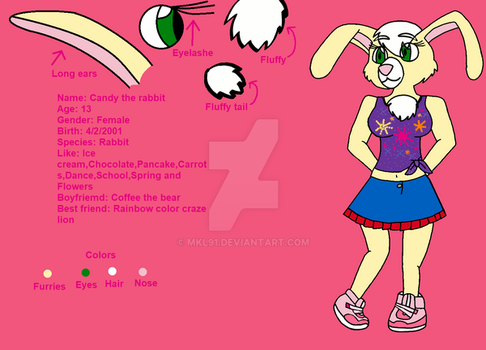 Ref. Candy the Rabbit by mkl91