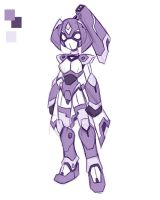 Female Robot thing by rongs1234
