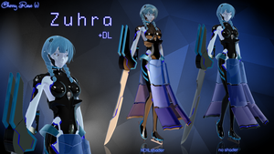 MMD model - Kuroyu-styled Zuhra (DL) by CherryRoseC
