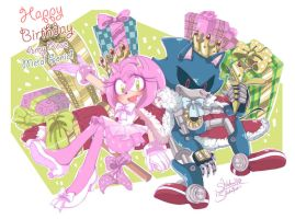 Happy  Birthday To Amy and Metal Sonic! by 1412Shadow