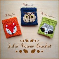 THE ANIMAL FOREST: wild crochet purse by Tofe-lai