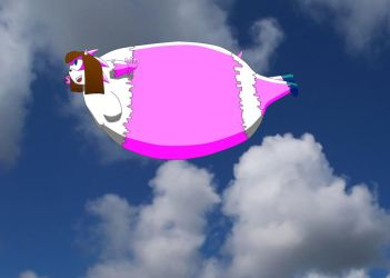 Inflated girl can fly???? by K-E-Y-K-O