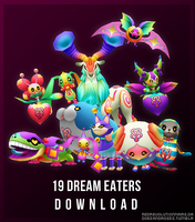 Dream Eaters pack part 1 [DOWNLOAD] by redRevolutionnaire