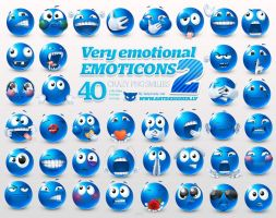 Very emotional emoticons 2 by lazymau