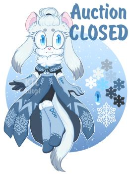 [Auction CLOSED] Adoption - Snowflake Weasel by KetLike