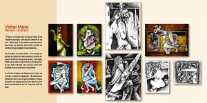 collage paintings n Drawings by vishalmisra