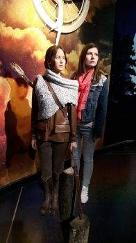 Madame Tussaud's: Katniss and I by MissJulyFarraday