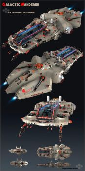 Concept Spaceship by Oshanin