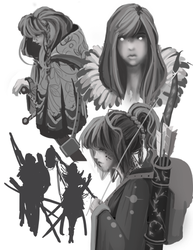 Dungeons and Dragons - Character Design Sheet 1 by Kosumonauto
