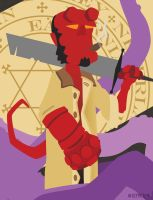 HELLBOY (WIP 2) by FROG-and-TOAD