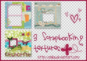 3 Scrapbooking Textures. by aNiLaU