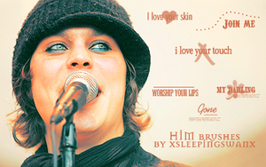 HIM Brushes Lyrics by xsleepingswanx