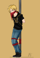 Jaune Arc Pyrrha Cape by BlackJacke7