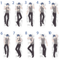 [MMD] Dakimakura Pose Pack M - DL by Snorlaxin