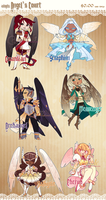 Adopts - Angel's Court [SOLD] by Beedalee-Art