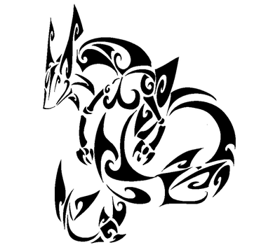 Tribal Rayquaza by Spoider