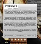 Xwidget Licence Splash Screen Mock Up by yereverluvinuncleber