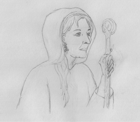 Crone Sketch by UnbridledMuse