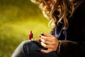 The Red Nailpolish by dkokdemir