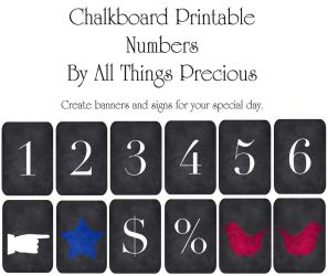 Chalkboard Numbers by AllThingsPrecious