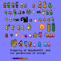 Super Custom Mario Sprites! by MegaRed225