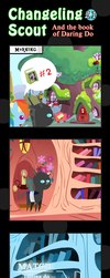 Changeling Scout And The Book Of Daring Do 21 by vavacung
