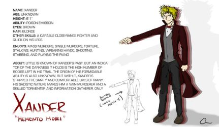Xander Profile (RP Character) by Chewp
