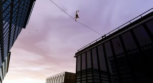 Man On A Wire by JohnMo