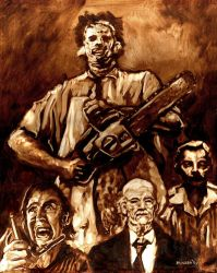 Texas Chainsaw Massacre family by bloodedemon