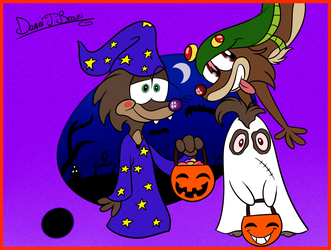 Hedgie Halloween by DBToonPhenomenal
