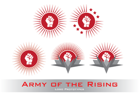 Army of the Rising - First draft of the logo by Nyctaeus