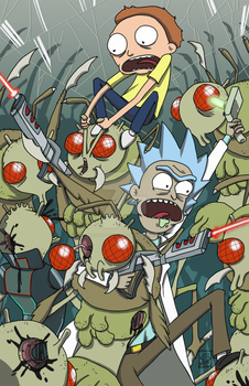 Shoot 'em, Morty, they're robots! by BrotherToastyCakes