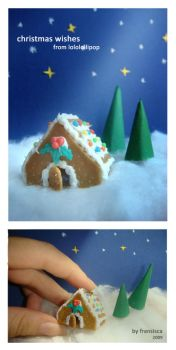 Xmas 2009 - Gingerbread House by lololollipop