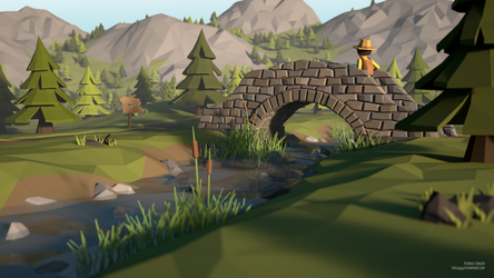 Hiking trip (LowPoly) by pat2494