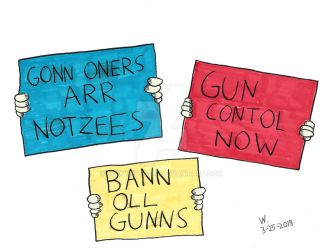 March For Our Lives Signs by maxwestart