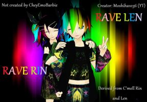 Rave C'mell Rin and Len by Rayne-Ray
