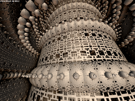 Mandelbulb Babel Tower by fraxialmadness3