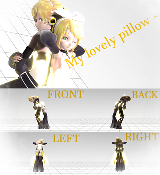 [MMD Pose] My Lovely pillow [DL] by PJ-Chan
