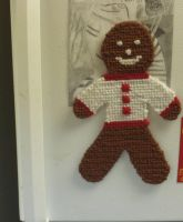 Cross Stitched Gingerbread Man by Bearie23