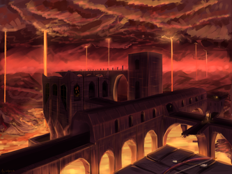 Minecraft Nether Fortress by Algoinde