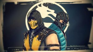Scorpion and Sub- Zero Mortal Kombat X by Dubcarnage