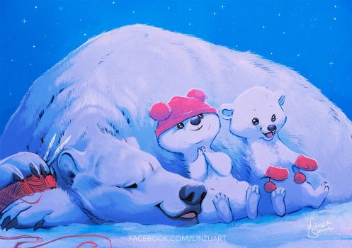 Let's hope cold weathers for polar bears by Linzu