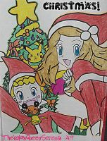 It's Christmas Eve!~Serena and Bonnie Surprise! by TheKalosQueenSerena