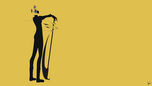 Celty Sturluson (Durarara!!) Minimalist Wallpaper by greenmapple17