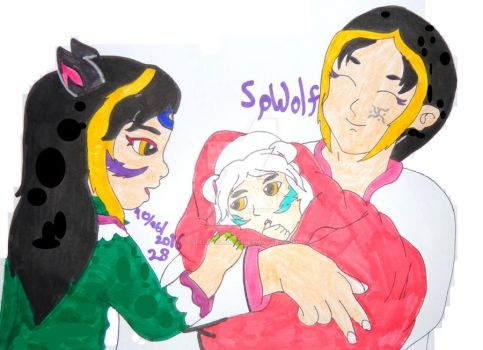 Inktober 2016: The New Baby (Story) by SpellboundFox