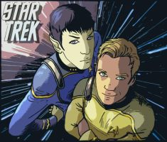 Kirk and Spock Manga Stylized by DorimantRake